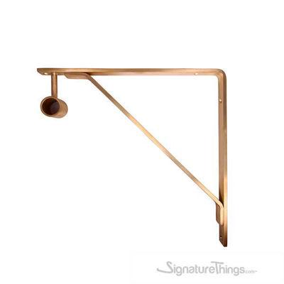 SignatureThings.com Brass Hardware Shelf Bracket with Standard Bracket Hanger