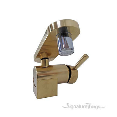 Single Hole Sink Brass Faucet With Round Spout