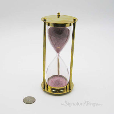 Brass sand timer