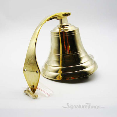 "Brass ship Bell 6"" with cord"