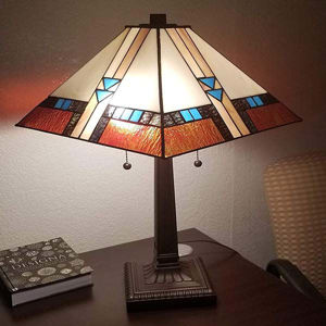 Tiffany-style Mission Table Lamp 23 In Tall