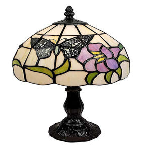 Tiffany Style Butterfly Table Lamp 15 Inches Tall