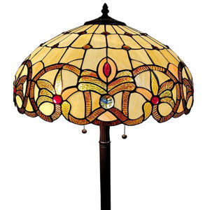Tiffany Style Floral Floor Lamp 60 In High
