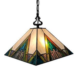 Mission 2-light Tiffany Style Hanging Lamp