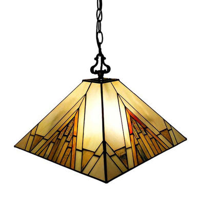 Tiffany Style Mission 2-light Pendant Lamp