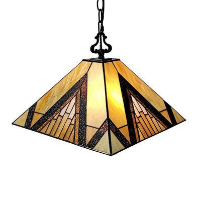 Tiffany Style 2-light Mission Lamp