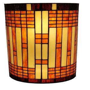 Tiffany Style 2-light Geometric Wall Sconce