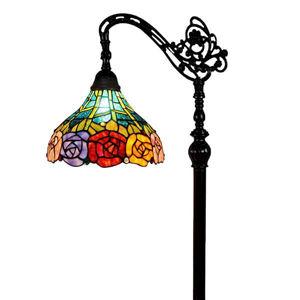 Tiffany Style 62-inch Roses Reading Floor Lamp