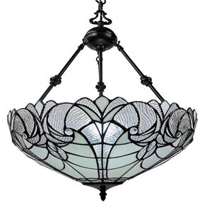 """Tiffany Style Floral Hanging Lamp 18"""" Diameter"""
