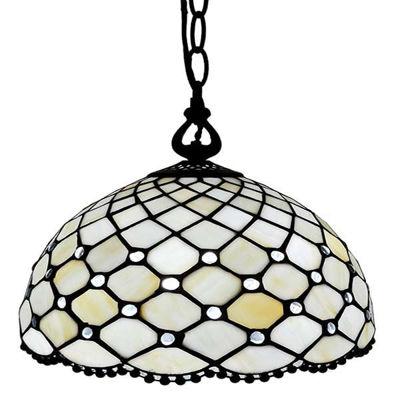 Jewel Tiffany Style Hanging Lamp 12 In