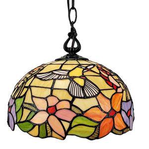 Tiffany Style Hummingbird 1-light Pendant Lamp