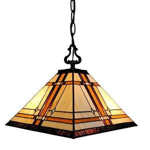 Tiffany Style Mission 2-light Hanging Lamp