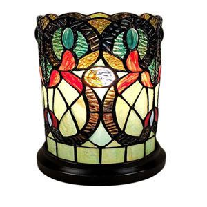 Tiffany Style Floral Design Table Lamp 12 High