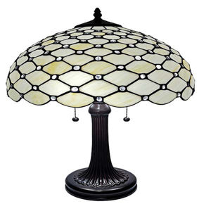 Tiffany Style Chandelle Table Lamp 25 Inches