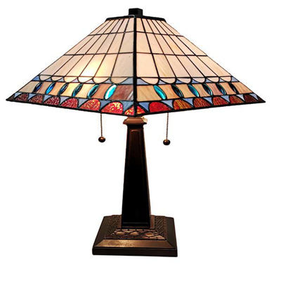 Tiffany Style 21 In High Mission Table Lamp