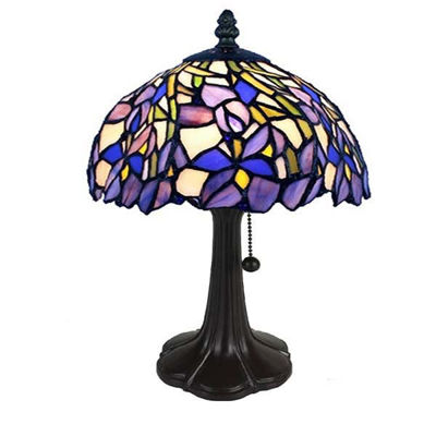 Tiffany Style Iris Table Lamp 15 Inches Tall