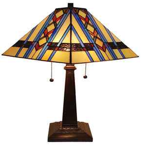 Tiffany Style Mission Table Lamp 22 Inch Tall