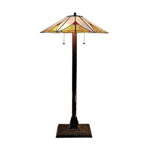 Tiffany Style Mission Floor Lamp 63 inches High