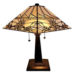 Tiffany Style 22 Inches Tall White Mission Table Lamp
