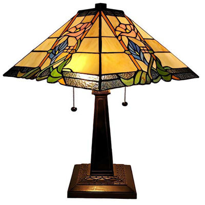 Tiffany Style Mission Table Lamp 23 Inches