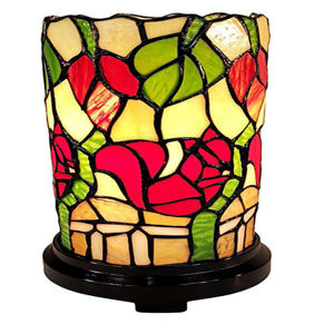 Tiffany Style 10 Inches Tall Floral Mini Table Lamp