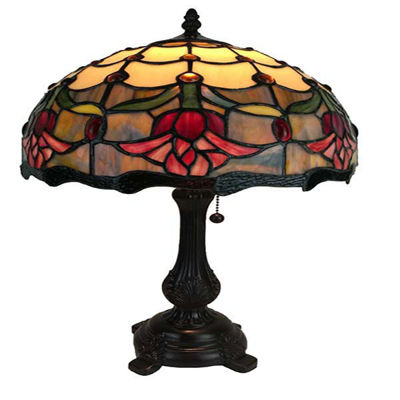 Tiffany Style Tulips Table Lamp 19 Inches Tall