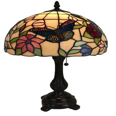 Tiffany Style Butterflies Table Lamp 19 Inches