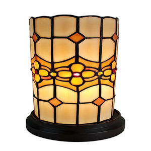 Tiffany Style Floral Mini Table Lamp 10 Inches Tall