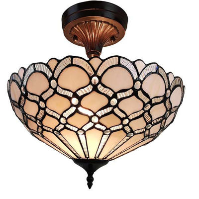 Tiffany Style Ceiling Fixture Lamp 17 In Wide