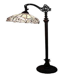 Tiffany style 62-inch White Reading Floor Lamp