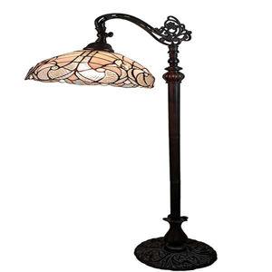 62-inch Tiffany style White Reading Floor Lamp