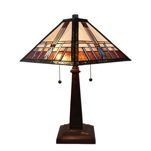 Tiffany Style Mission Table Lamp 21 In High