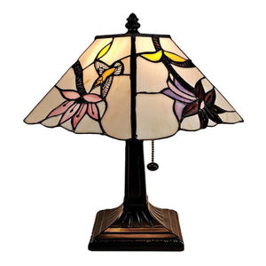Tiffany Style Mission Table Lamp 8 In Wide