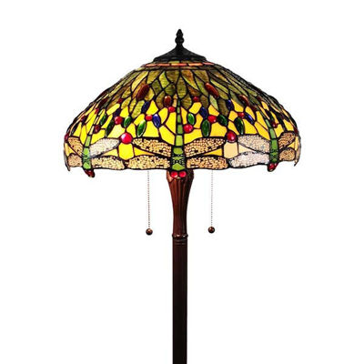 Tiffany Style Dragonfly Floor Lamp 18 Inches Wide