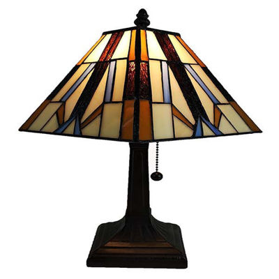 Tiffany style Mission table lamp 15.5 Inches High