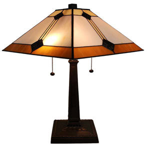 Tiffany Style Mission Design Table Lamp 21 In