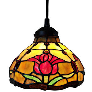 Tiffany Style Tulips Ceiling Hanging Lamp