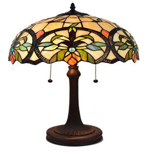 Tiffany Style Multi-Color Table Lamp 23 Inches Tall