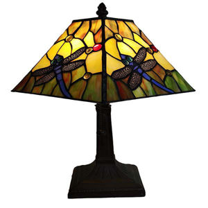 Tiffany Style Dragonfly Table Lamp 15 in wide