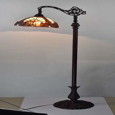 Tiffany Style Geometric Reading Lamp