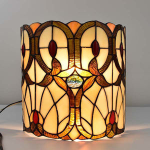 Tiffany Style Double-Light Geometric Wall Sconce