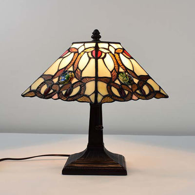 Tiffany Style Geometric Mini Table Lamp