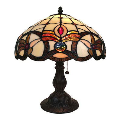 Tiffany Style Geometric Table Lamp 19 In