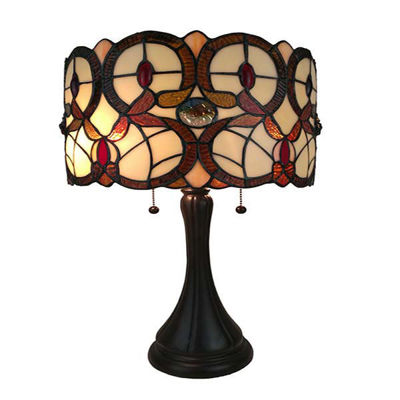 Tiffany Style Geometric Table Lamp