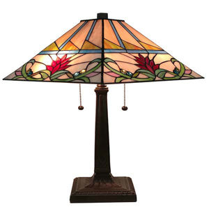 Tiffany Style Multi Color 22 Inches Tall Mission Table Lamp