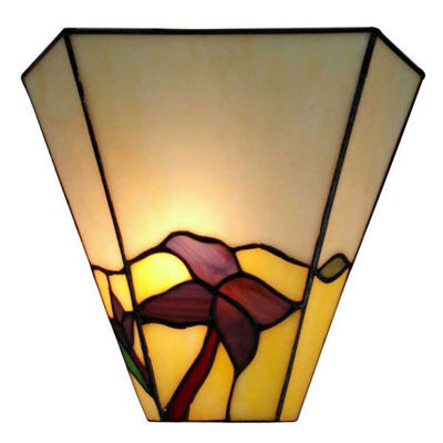 Tiffany Style Wall Lamp Base finish Dark brown