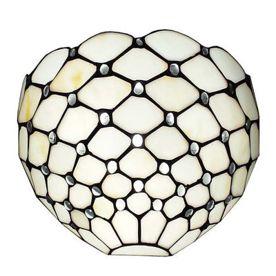 Tiffany Style White Wall Sconce Lamp