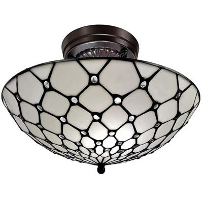 Tiffany Style 17 In Wide Ceiling Fixture Lamp