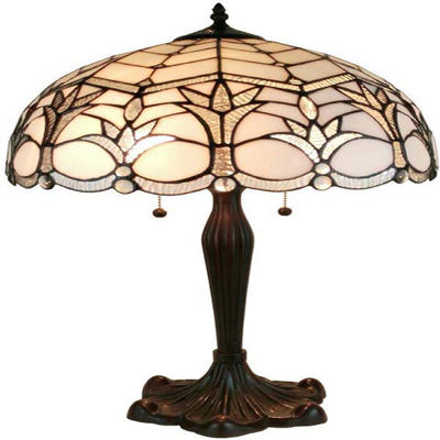 Tiffany style White Table Lamp 23 Inches Tall