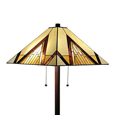 "Tiffany Style Mission Standing Floor Lamp 62"" Reading Gift"